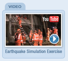 SES earthquake simulation exercise